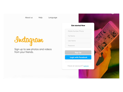 Instagram New Concept web animation animation animated design clean minimal ux ui interaction design creative design landing page design landingpage landing design interface interaction creative
