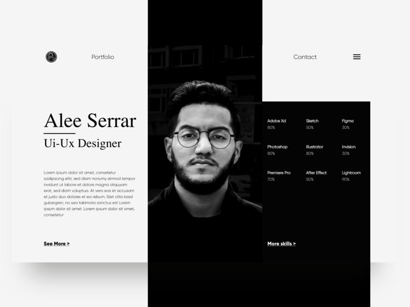 Curriculum Vitae Web Concept clean resume cv design cv web ux ui minimal landingpage landing page design interface design concept grey white black