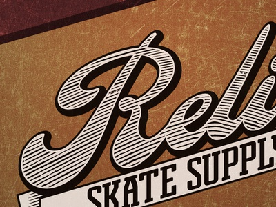 Relief relief skate supply skateboard faux logotype logo
