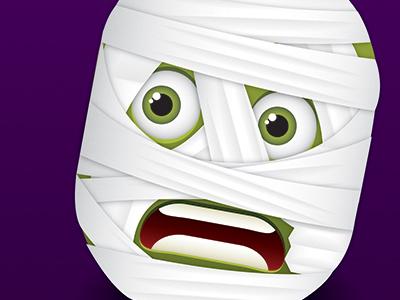 Mummy Face face character halloween illustrator illustration mummy