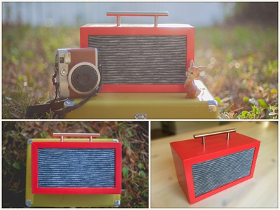 Mallory Boombox bluetooth stereo boombox music radio modern vintage electronics diy woodworking