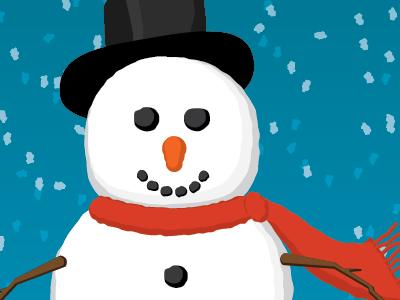 Snowysnowman holidays snow winter snowman vector illustration illustrator
