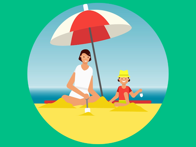 Holiday inn - Little Big Travellers joysticksnsliders beach adobe aftereffects illustration illustrator after effects vector animation