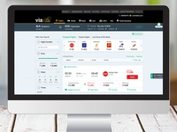 Corporate website flight result page