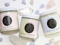 Identity Design || Crystal Candles by Toasted Collections