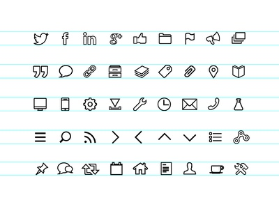 Hollow Icons Phbm hollow icons phbm icon font