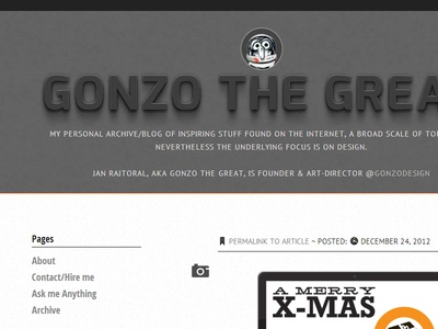Gonzo the Great V3 tumblr css redesign typography