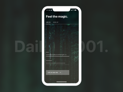 Feel the Magic. Daily UI 001