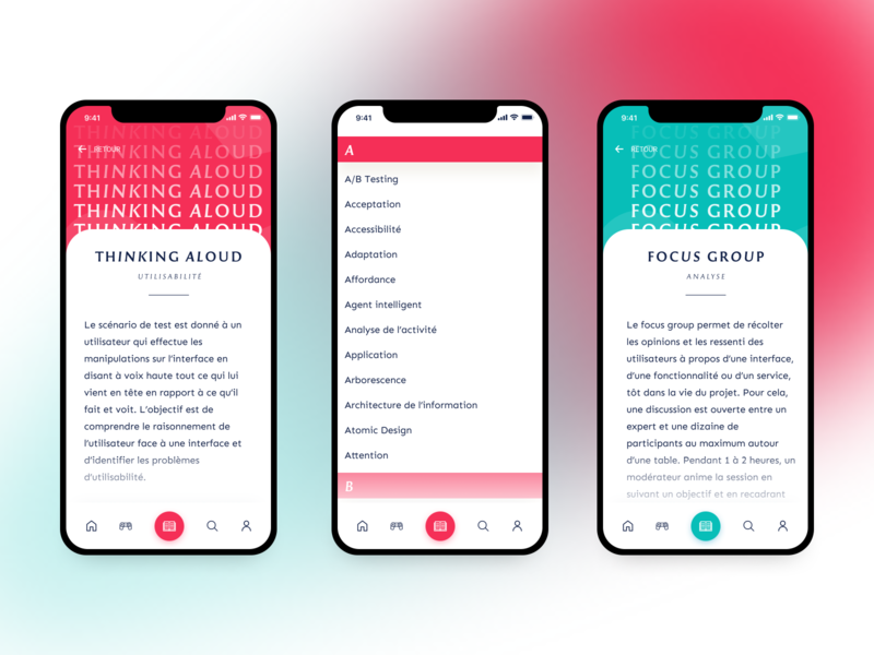 UX Glossary App UI 2.0 uidesign uxdesign redesign screens minimal icons mobile app mobile ui typography glossary app graphic design experience design art direction ux user interface digital design design ui user experience