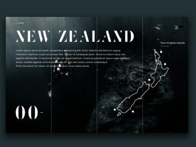 New Zealand Scuba Diving spots 00 UI Website