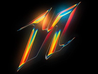 N Chrome Letter illustrator graphic design gradients retrowave photoshop chrome type typography chrometype