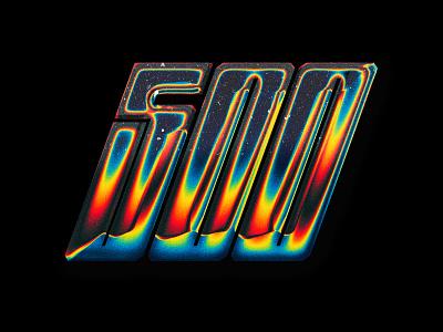 500 Chrome Type inspiration design typography chrome type photoshop illustrator gradients chrome graphic design chrometype