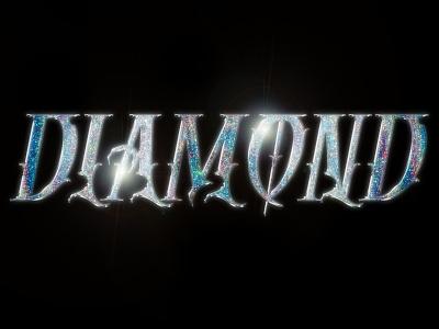 Diamond Chrome Typography design retrowave inspiration typography art typography photoshop illustrator chrome graphic design chrometype