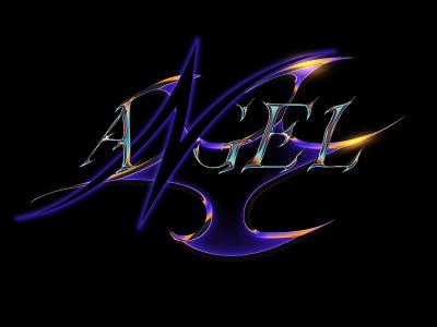 ANGEL CHROME TYPE chrome type retrowave typography art inspiration typography photoshop illustrator chrome graphic design chrometype