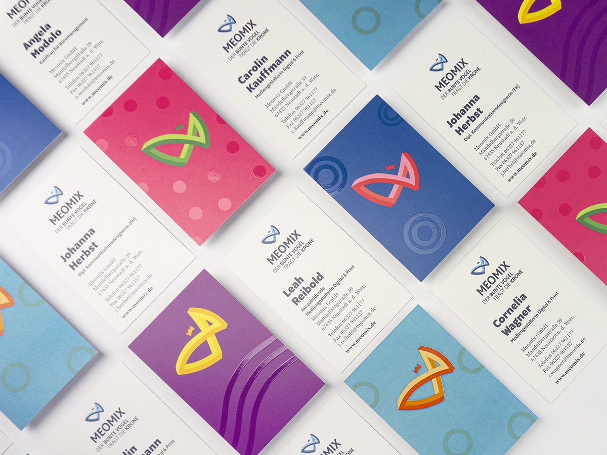 Meomix Ci Business Cards By Meomix Gmbh On Dribbble