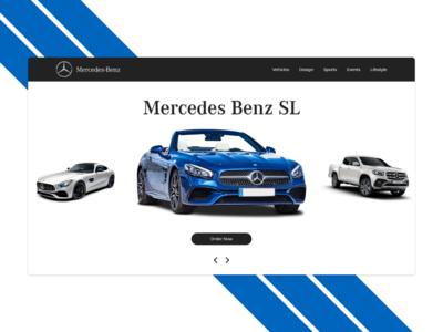 Mercedes Benz Landing Page Concept