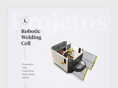 Robotic Welding Cell editorial graphic  design image editing photograhy design illustration