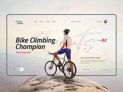 Cycling weekly web uiux inspirational interface design photography champion climbing mountain creative interaction interface webpage website landing xtreme sports bike inspiration