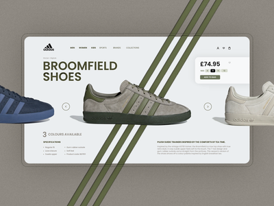Adidas website. sports logo broomfield adidas shoes sports graphic design uidesign concept template web website interaction inspiration interface