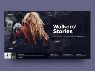 Coldtrails photography user interface interface fronten inspiration interaction graphic design webdesign web uiux uidesign ui