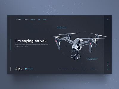 Drone Template graphic design webdesign web interface userinterface uidesign ui theme template drone