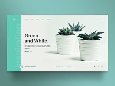 Plants Template interface graphic design web design web uidesign theme uiux template green plants