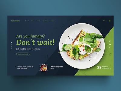 Restaurant Template restaurant app concepto interaction temas plantillas diseño gráfico web design uidesign uiux ui web food menu restaurant