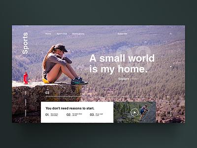 Sports mujer interfaz de usuario frontend design desarrollo wordpress tema diseño gráfico ui interacción diseño web uiux web diseño inspiración uidesign interfaz trekking escalar sports