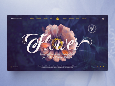 Flower web designer trend e-commerce montaje photoshop lettering interface landing web website graphic design flower design ux ui
