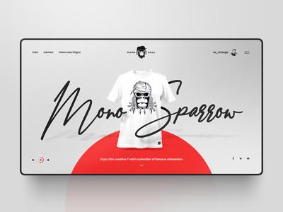 Concept design for MonoSexy website