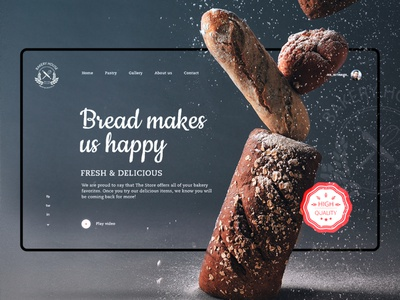 Bakery House uiux template webpage website ecommerce store photography delicious fresh graphic design interaction inspiration interface landing food bread house bakery