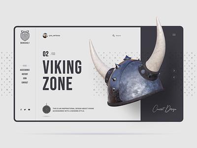 Odinsholt graphic design concept uidesign template website uiux visual design inspiration interaction interface medieval helmet casco landing viking odin