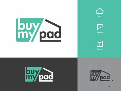 Buy My Pad concept real estate logotype branding logo