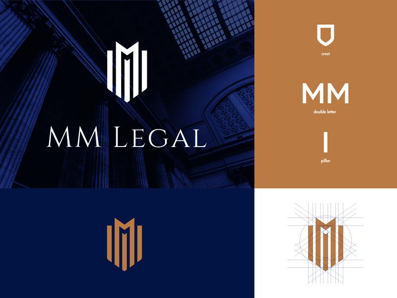 MM legal logo design law firm law logo law legal design logo clean branding brand real estate icon