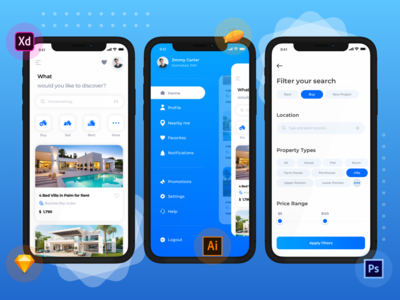 Gharbaar - Property mobile app design