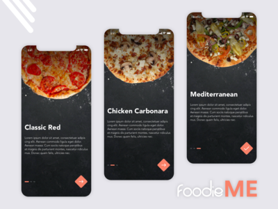 foodieME - App  onboarding screens