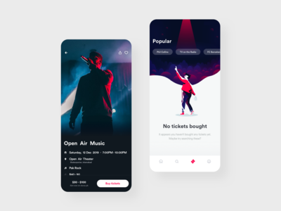 Concert Ticketing App Concept