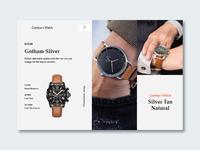 Watch Design Website