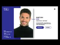 profile layout design website