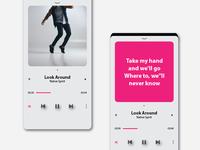 music sign up layout design website