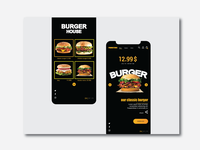 Burger House layout design website