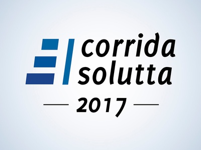 1ª Corrida Solutta 2017 Logo blue event accounting racing logo