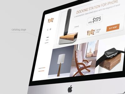 UI design for Yozz Shop ecommers shop web design ui design