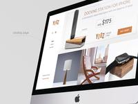 UI design for Yozz Shop