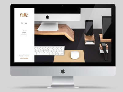 UI design for Yozz Shop home page ecommers shop web design ui design