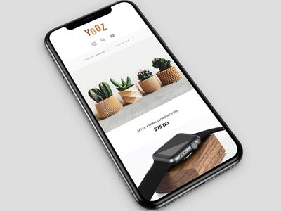 UI design for Yozz Shop responsive ecommers shop web design ui design
