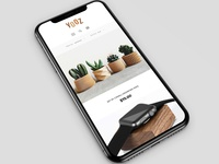 UI design for Yozz Shop responsive