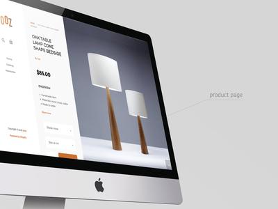UI design for Yozz Shop product page ecommers shop web design ui design