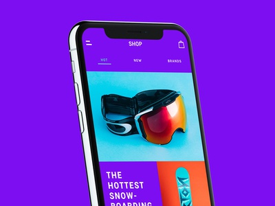 Hot Products - Snowhills Snowboard App e-commerce sport snowboard application ui design