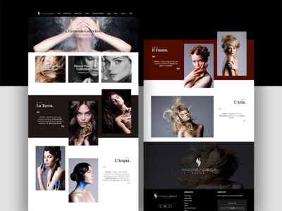 "Hair Saloon ""Elements Collection"" page interface design website webpage webdesign web ux ui landing"